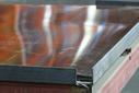 Лист оцинкованный, 1,25×2м, толщина 0,4мм, RAL8017, взащитной плёнке