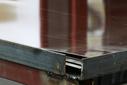 Лист оцинкованный, 1,25×2м, толщина 0,45мм, RAL8017, взащитной плёнке