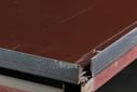 Лист оцинкованный, 1,25×2м, толщина 0,5мм, RAL8017, взащитной плёнке